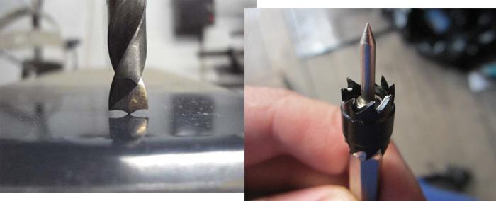 Специальные сверло и коронка для высверливания точечной сварки.
