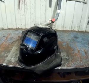 Самодельная сварочная маска с подачей воздуха