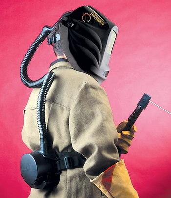 Сварочная маска с подачей воздуха