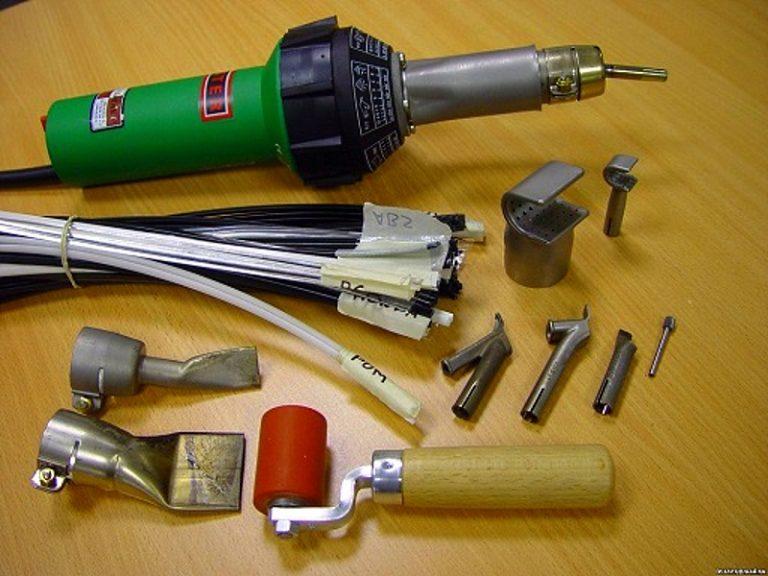 Инструмент и материалы для ремонта пластикового бампера