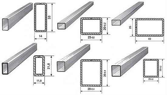 Ассортимент стальных профилей представлен оцинкованными, крашенными, необработанными изделиями