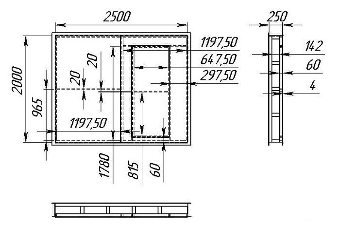 По чертежам легче определиться с размерами, расположением деталей, количеством материала