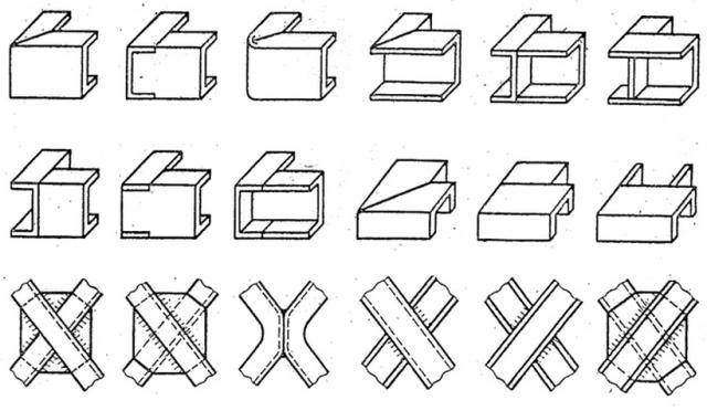 Способы стыковки швеллеров