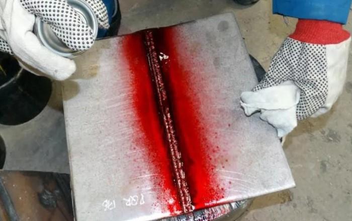 Цветная дефектоскопия сварных швов