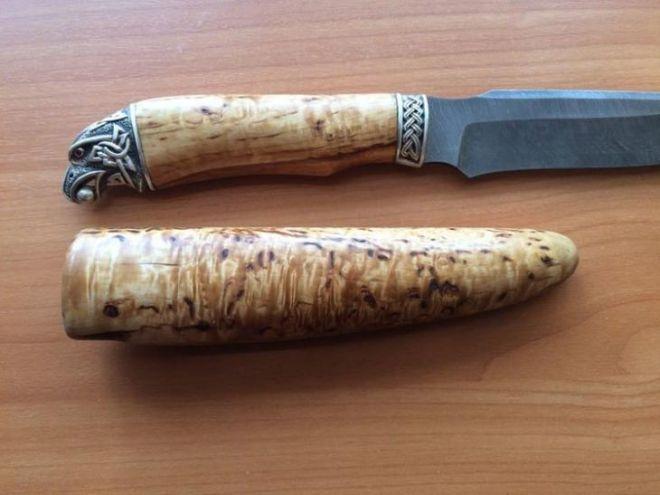 Уникальная рукоять украсит внешний вид ножа