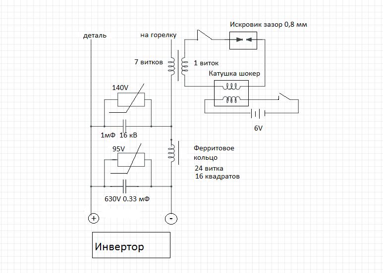 Схема изготовления сварочного осциллятора