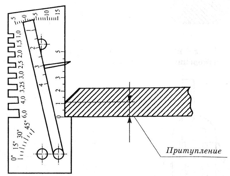 Измерение притупления кромок деталей