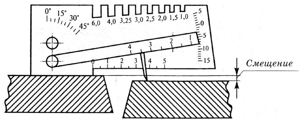 Измерение смещения стыкового соединения