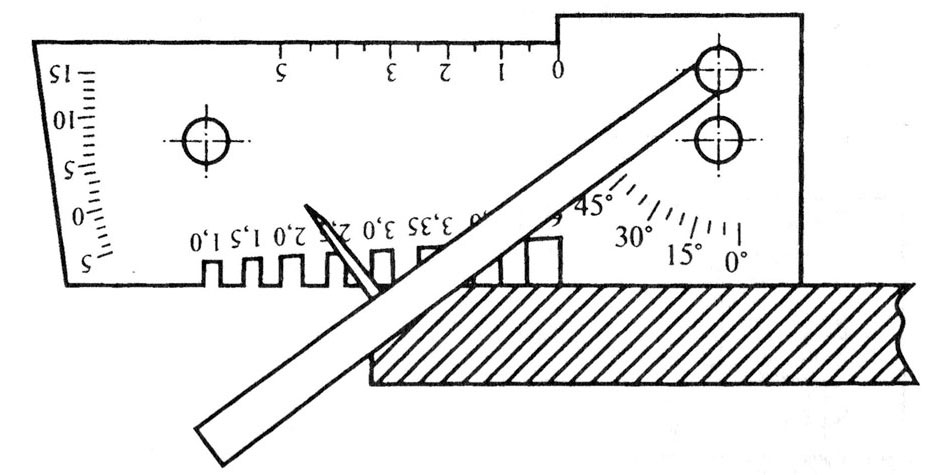Измерение угла разделки кромки