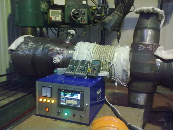 Индукционная термообработка сварного соединения