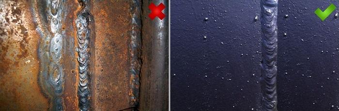 Сварочный грунт защищает швы от коррозии