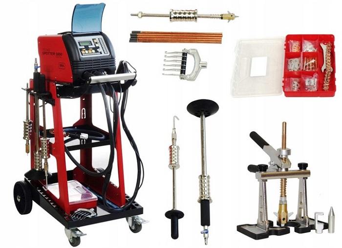 Сварочный споттер с полным комплектом инструмента и оборудования готовый для работы